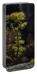 Glowing Tree At Zion Portable Battery Charger