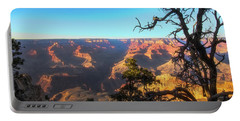 Gnarled Juniper On Canyon Rim Portable Battery Charger