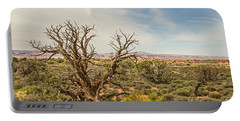 Gnarled Juniper Tree In Arches Portable Battery Charger