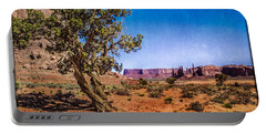Gnarled Utah Juniper At Monument Vally Portable Battery Charger