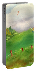 Go Fly A Kite Portable Battery Charger by Denise Tomasura