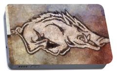 Go Hogs Go  Portable Battery Charger by Dawn Bearden