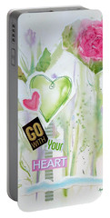 Go With Your Heart Portable Battery Charger