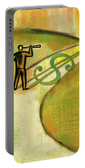 Portable Battery Charger featuring the painting Goal by Leon Zernitsky