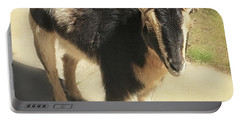 Goat Portable Battery Charger by Heather Applegate