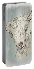 Goat Portrait-farm Animals Portable Battery Charger
