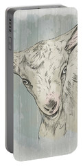 Goat Portrait-farm Animals Portable Battery Charger