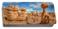 Goblin Valley State Park Portable Battery Charger by JR Photography