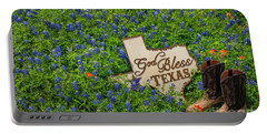 God Bless Texas II Portable Battery Charger by John Roberts
