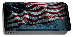 God Country Notre Dame American Flag Portable Battery Charger