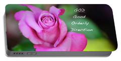 Portable Battery Charger featuring the photograph God Equals Rose by Debby Pueschel