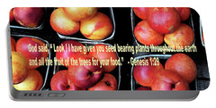 God Gives Fruit For Food Portable Battery Charger