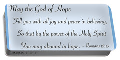 God Of Hope Portable Battery Charger