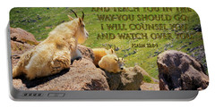 God Will Watch Over You Portable Battery Charger
