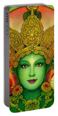Goddess Green Tara's Face Portable Battery Charger by Sue Halstenberg