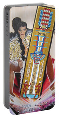 Goddess Isis Sits Holding Tet Of Osiris Portable Battery Charger
