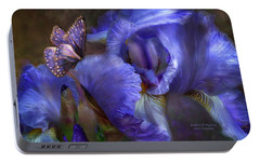 Goddess Of Mystery Portable Battery Charger by Carol Cavalaris