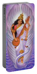 Goddess Saraswati Portable Battery Charger