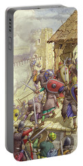 Godfrey De Bouillon's Forces Breach The Walls Of Jerusalem Portable Battery Charger