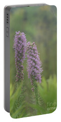 Portable Battery Charger featuring the photograph Godfrey's Blazing Star by Maria Urso