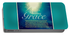 God's Amazing Gift Of Grace Portable Battery Charger by Kimberlee Baxter