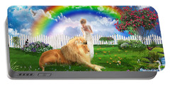 God's Perfect Promise  Portable Battery Charger by Dolores Develde