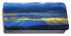 God's Rays In God's Country Portable Battery Charger