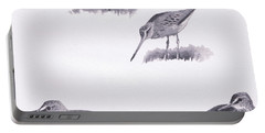 Godwits And Green Sandpipers Portable Battery Charger