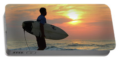 Portable Battery Charger featuring the photograph Goin Surfing by Robert Banach