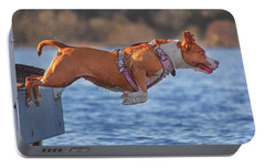 Portable Battery Charger featuring the photograph Going For A Swim  by Brian Cross