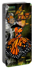 Portable Battery Charger featuring the mixed media Going The Distance by Marvin Blaine