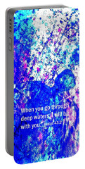 Portable Battery Charger featuring the painting Going Through Deep Waters by Hazel Holland