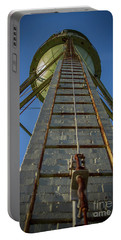 Portable Battery Charger featuring the photograph Going Up Mary Leila Cotton Mill Water Tower Art by Reid Callaway