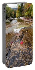 Portable Battery Charger featuring the photograph Going With The Flow, Step Falls, Newry, Maine #40086 by John Bald