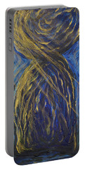 Gold And Blue Latte Stone Portable Battery Charger