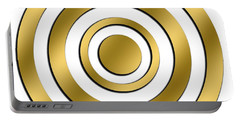 Gold Circles Portable Battery Charger