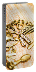 Gold Class Hair Styling Background Portable Battery Charger