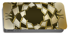 Portable Battery Charger featuring the digital art Gold Coffee 10 by Chuck Staley