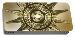 Portable Battery Charger featuring the digital art Gold Coffee 11 by Chuck Staley