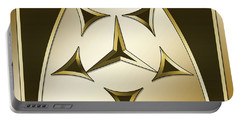 Portable Battery Charger featuring the digital art Gold Coffee 7 - Chuck Staley by Chuck Staley