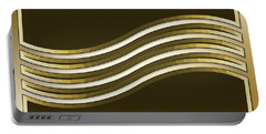 Portable Battery Charger featuring the digital art Gold Coffee 8 by Chuck Staley