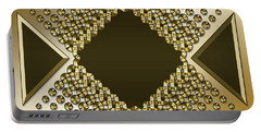 Portable Battery Charger featuring the digital art Gold Coffee 9 by Chuck Staley