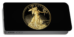 Gold Coin Front Portable Battery Charger