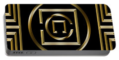 Gold Deco 1 - Chuck Staley Portable Battery Charger by Chuck Staley