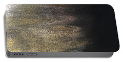 Portable Battery Charger featuring the painting Gold Dusty Night by Alisha Anglin