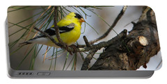 Gold Finch Portable Battery Charger by Roger Becker