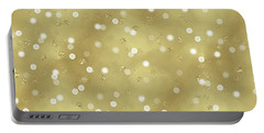 Gold Glam Confetti Dots Portable Battery Charger by P S