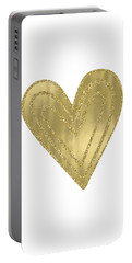 Gold Glam Heart Portable Battery Charger by P S