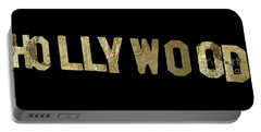 Gold Hollywood Sign Portable Battery Charger