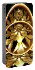 Gold Lacquer Portable Battery Charger